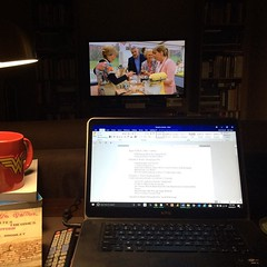 #GBBO, uncompleted (!) syllabus, all the coffee. This is what today is. #phdlife, #nerd, #feminism