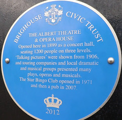 Photo of Albert Theatre & Opera House, Brighouse blue plaque
