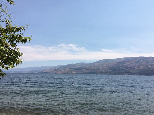 Peachland campsite view