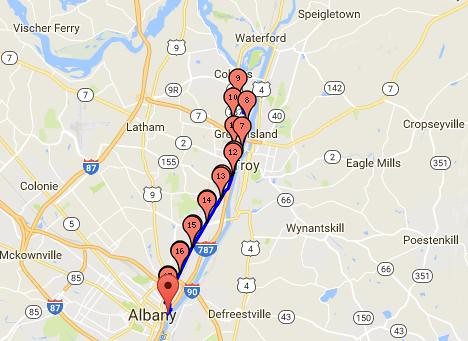 albany menands watervliet cohoes 17.7miles