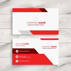 red modern business card