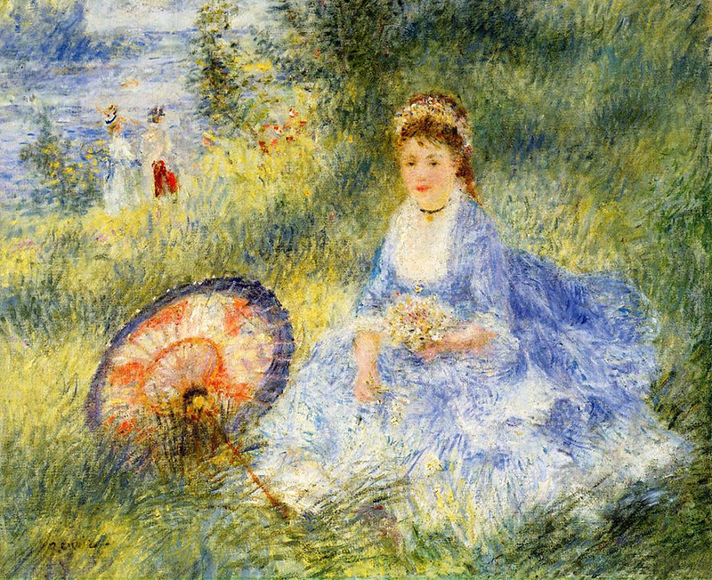 Young Woman with a Japanese Umbrella by Pierre Auguste Renoir, 1876