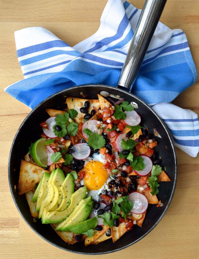 Hangover Cure Mexican Chilaquiles | www.rachelphipps.com @rachelphipps