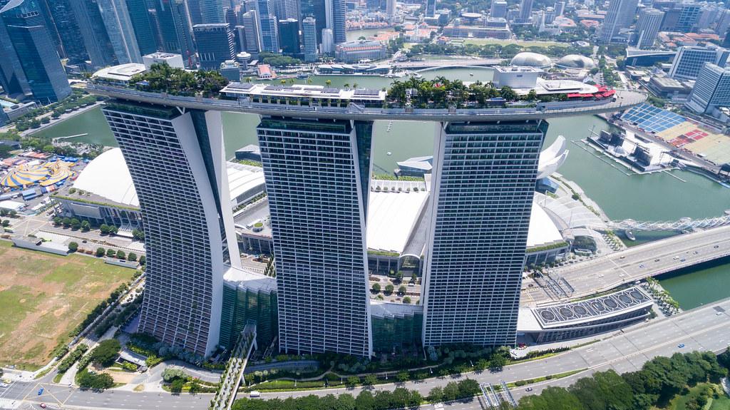 Luftbild Marina Bay Singapur