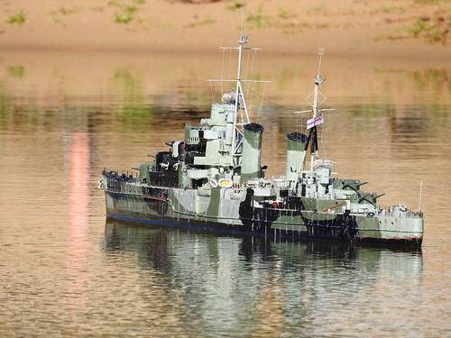 Model naval ship (radio controlled)