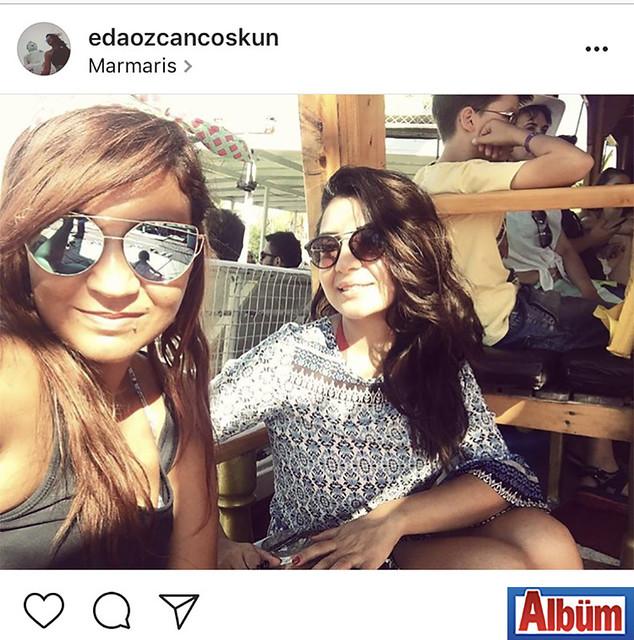 Eda Coşkun, yakın dostu Burcu Uysal ile birlikte Marmaris'te keyifli bir tatil yaptı.