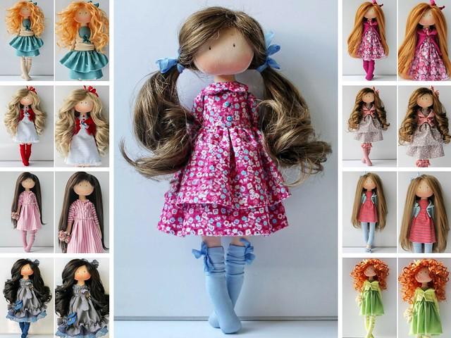 Poupée Art Doll Soft Doll Rag doll Tilda Doll Fabric Doll Muñecas Red Doll Cloth Doll Handmade Doll Textile Doll Interior Doll by Olesya
