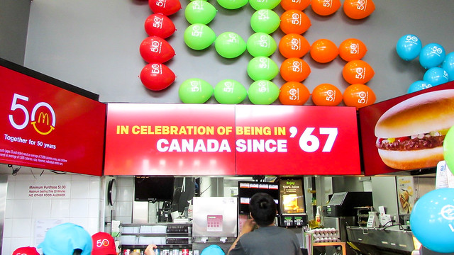 McDonald's 50th Birthday & 67 Cent Hamburgers