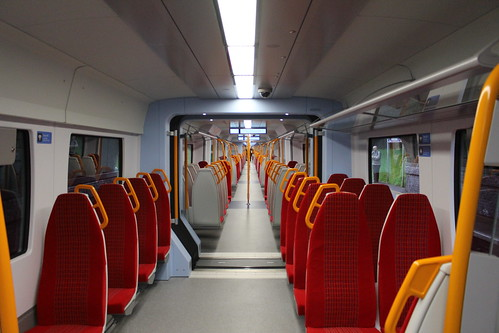 Interior of South West Trains 707005, Brentford
