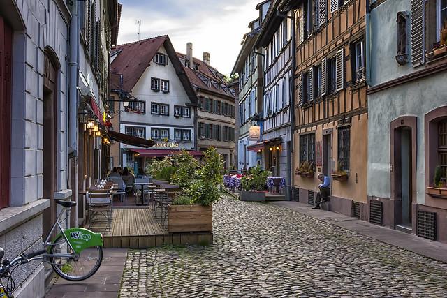 Cafes in Strasbourg., Nikon D7100, AF-S DX Nikkor 18-300mm f/3.5-5.6G ED VR