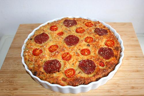 58 - Feta quiche with rucola - Finished baking / Schafskäsekuchen mit Rucola - Fertig-gebacken