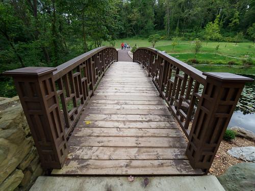 landscape bridge pittsburghbotanicgarden oakdale pennsylvania unitedstates us