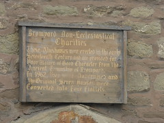Photo of Bromyard Almshouses wood plaque