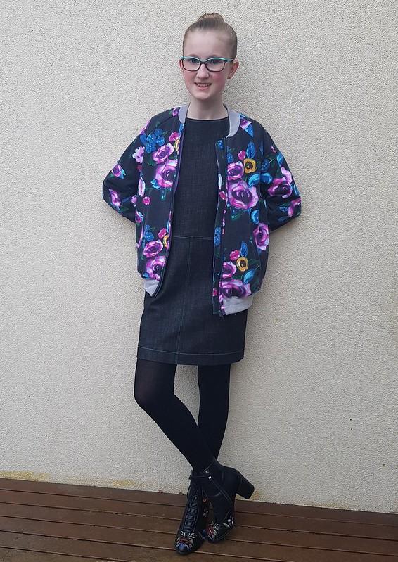 Lekala T4001 dress in denim from Rathdowne Fabrics