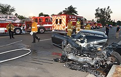 Arleta Collision Critically Injures Two