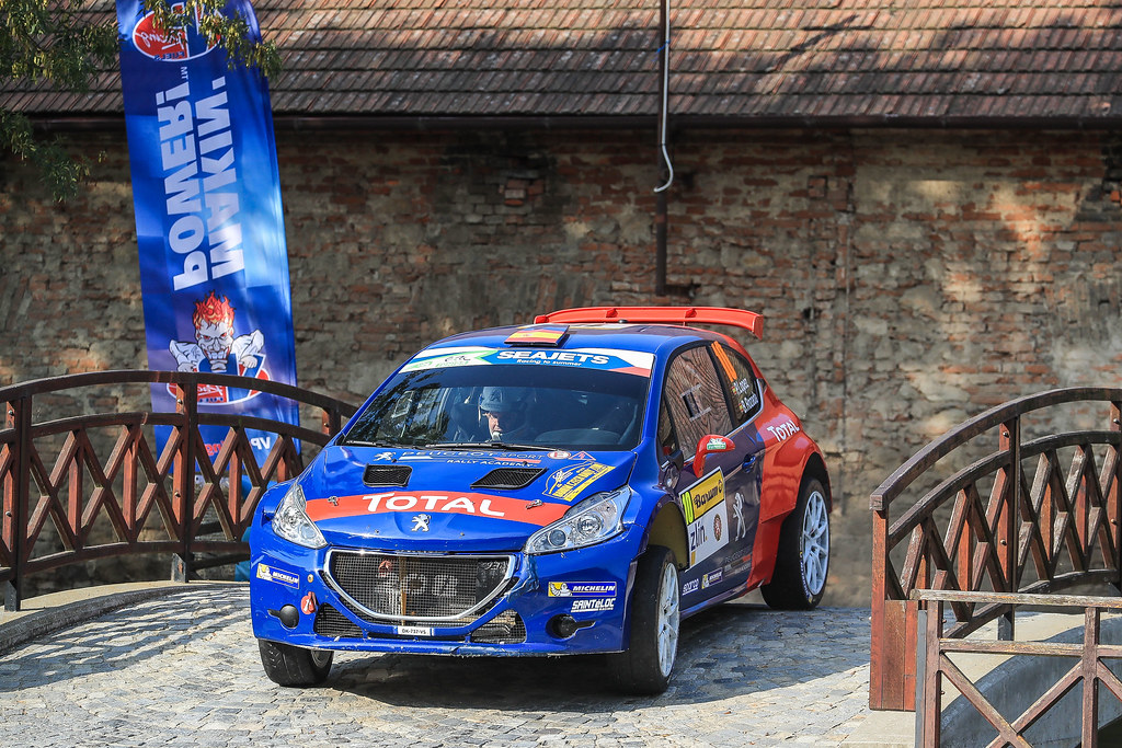 10 LOPEZ Jose Maria (ESP) ROZADA Borja (ESP) Peugeot 208 T 16 action during the 2017 European Rally Championship ERC Barum rally,  from August 25 to 27, at Zlin, Czech Republic - Photo Jorge Cunha / DPPI