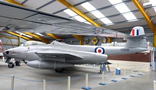 VZ 608 'Royal Air Force' Gloster Meteor FR9 on 'Dennis Basford's railsroadsrunways.blogspot.co.uk