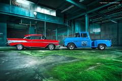 57 Bel Air + 55 Chevy 3100 - Shot 16
