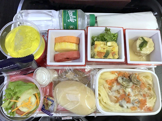 Japan Airlines economy meal