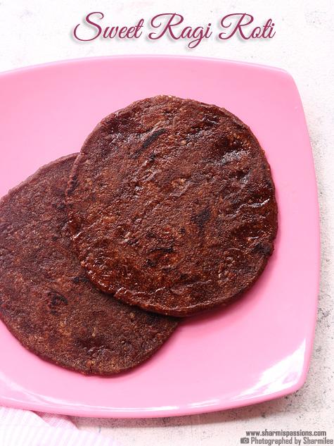 Ragi sweet roti recipe