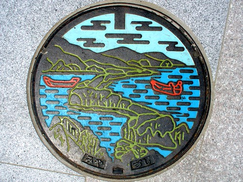 Miyazu Kyoto, manhole cover 3 (京都府宮津市のマンホール3)