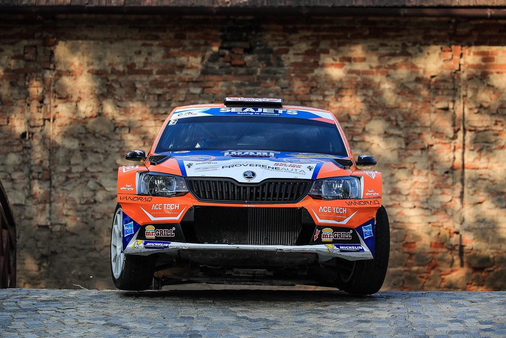 11 VALOUSEK Pavel (CZE) HAVELKOVA Veronika (CZE) Skoda Fabia R5 action during the 2017 European Rally Championship ERC Barum rally,  from August 25 to 27, at Zlin, Czech Republic - Photo Jorge Cunha / DPPI