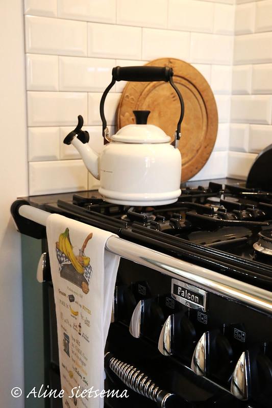 Onze nieuwe keuken 2 Falcon Elan fornuis