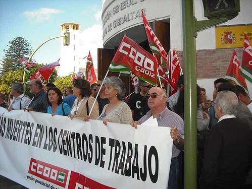 CONCENTRACIÓN NO MAS MUERTES EN LOS CENTRO DE TRABAJO 3-N 0021