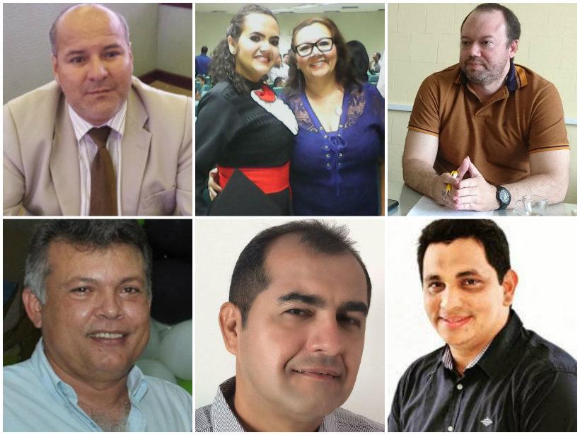 Holofotes em 6 VIPs. Gerlande, Maduro, Barrudada, Denise, Edson Filho e Kedson, Holofotes. Gerlande, Denise...