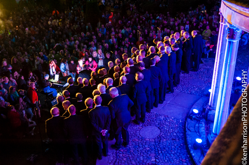 Brythoniaid Choir perform at Festival Number 6, Portmeirion, Wales, UK. 9th September, 2017.