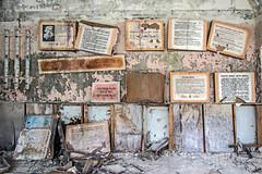 Various signs in the Derelict Duga Radar Base - Chernobyl