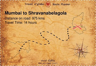 Map from Mumbai to Shravanabelagola
