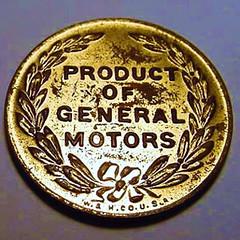 General Motors Pontiac Medal reverse