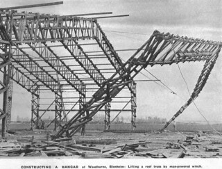 1939 Woodbourne hangar construction