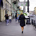 People walking on street in St. Petersburg, Russia