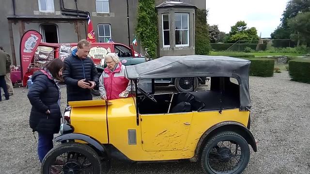 The Wolseley Car Club of Ireland Vintage Rally, Tea & Coffee break ,in Bally Shannon Farm, with 60 Classic Cars in Adamstown, Wexford,Ireland. 17th Sept 2017.