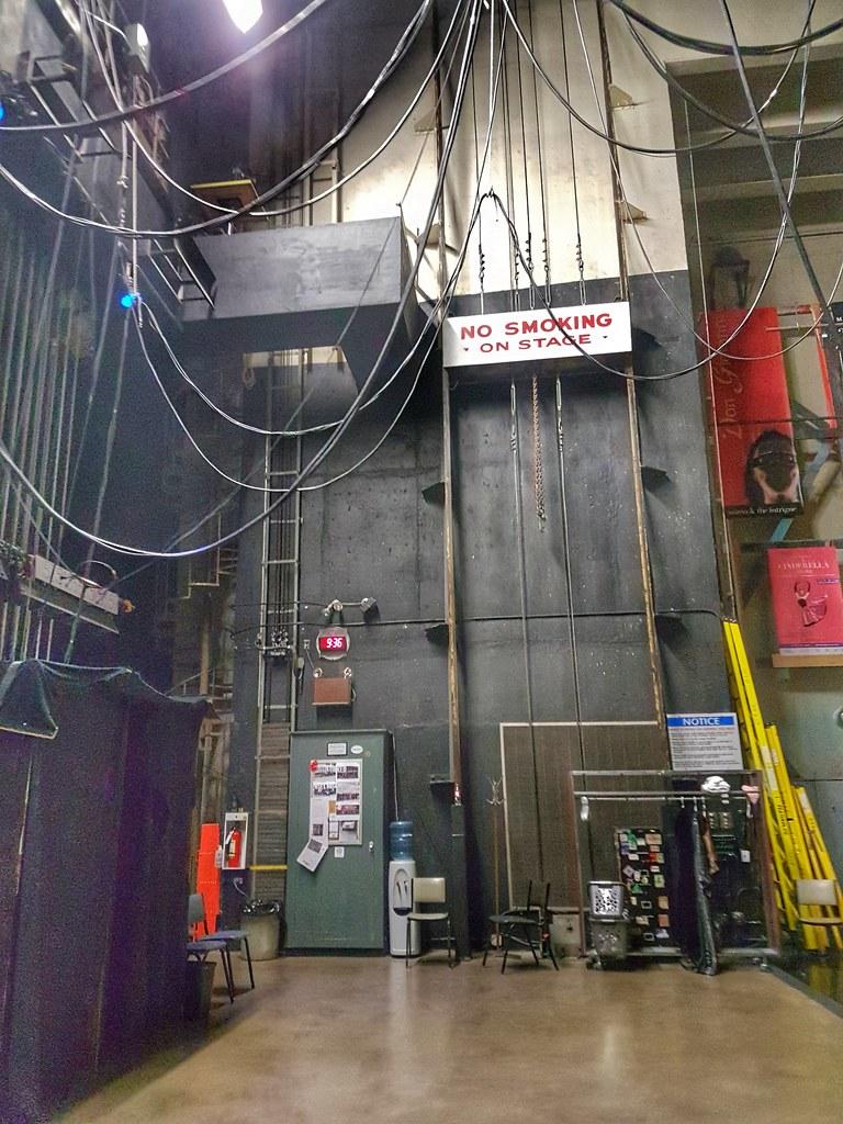 backstage no smoking sign