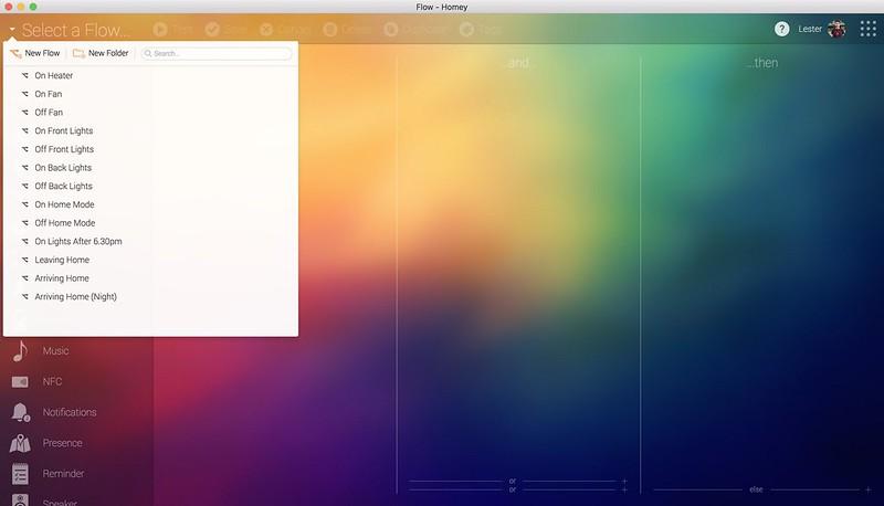 Homey Desktop App - Flow