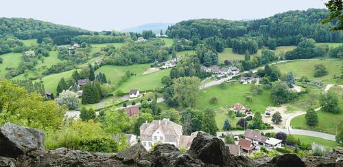Les environs de Ferrette depuis le château