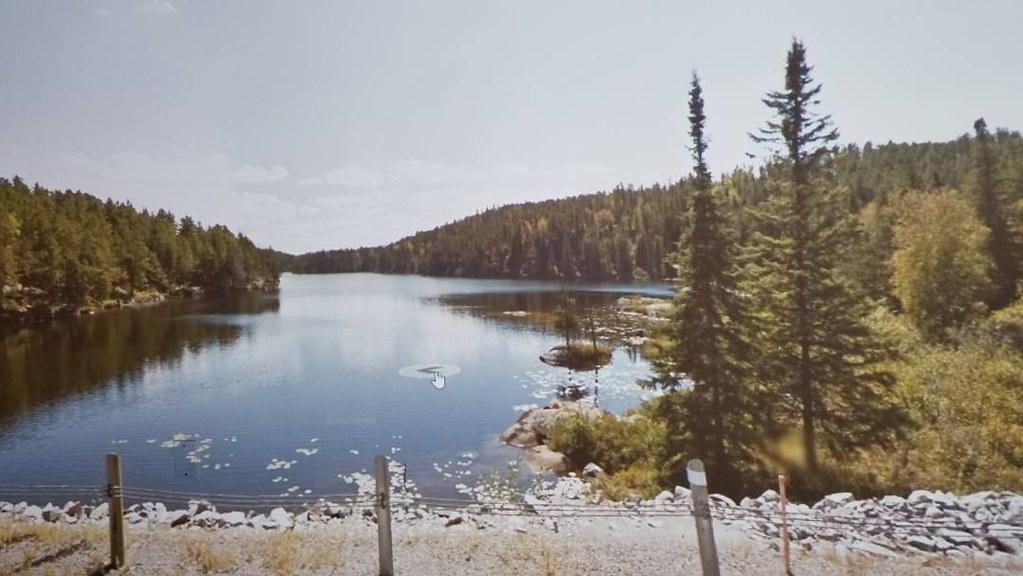 Dogtooth Lake. #ridingthroughwalls #xcanadabikeride #googlestreetview #ontario
