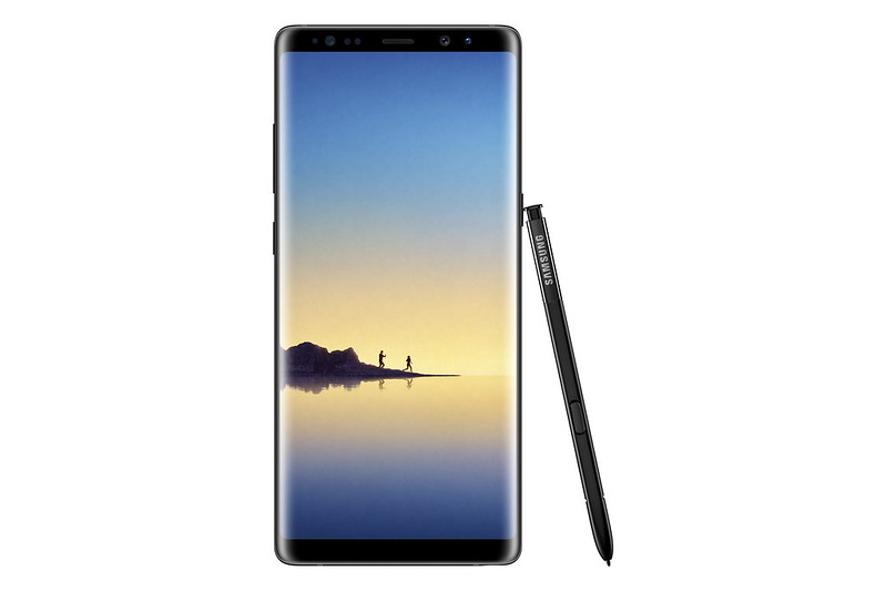 Samsung Galaxy Note 8 - Midnight Black - Front
