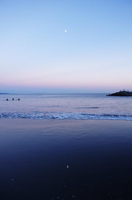 a moon in the beach