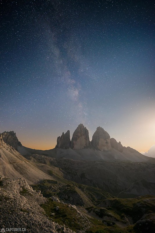 Moon and stars - Tre Cime