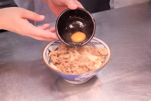 丸亀製麺 牛すき釜玉 牛すき月見 03