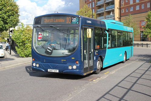 Arriva Southern Counties / Arriva Kent Thameside . 3816 GN07AVC . Harlow Town Station , Essex . Thursday 17th-August-2017 .