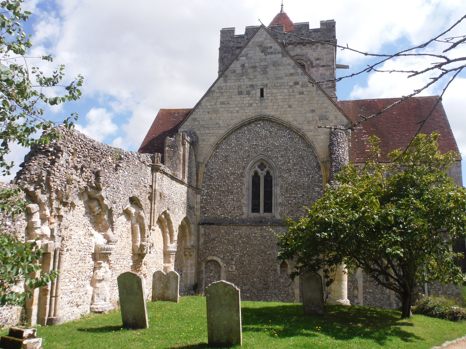 Church of St. Mary and St. Blaise, incl. Cloister remains of Benedictine Priory SWC Walk 239 Halnaker to Chichester via Cass Sculpture Park and Goodwood (Boxgrove Priory out-and-back)