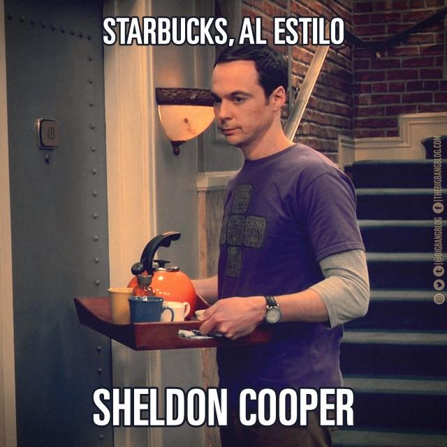 Meme Starbucks de Sheldon Cooper2
