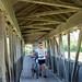 Covered Wooden Bridge over the Dornbirner Ach Stream, Hard, Vorarlberg, Austria