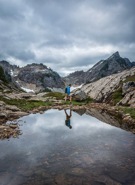 A self portrait taken yesterday morning while exploring the Gothic Basin high up in the North Cascades