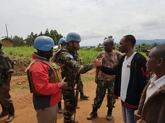 Vuyinga, North Kivu Province,DR Congo: 5 August 2017 The head of the Vuyinga village expressed his gratitude to the commander of the Uruguayan company after MONUSCO troops engaged and managed to dislodge Mayi Mayi NDC-R elements.